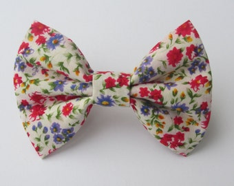 Calico Floral Bow Tie- All Sizes