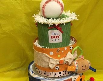 Sports Diaper Cake Etsy - All star birthday cake