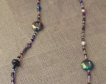Beaded Jewelry Set / Lavendar