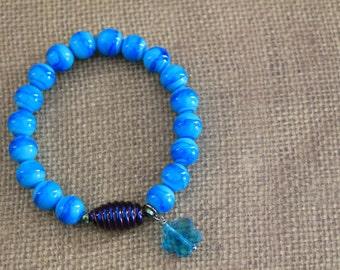 Bead Bracelet / Blue Bead Bracelet / Green Bead Bracelet / Pink Bead Bracelet / Purple Bead Bracelet / White Bead Bracelet