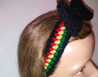 Bow Headband, Headband Adult, Rasta Headband, Rasta, Ladies Headbands, Hair Accessories, Crochet Headband, Crochet Accessories, Headband