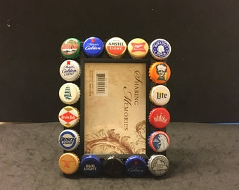 3.5 x 5 beer cap picture frame