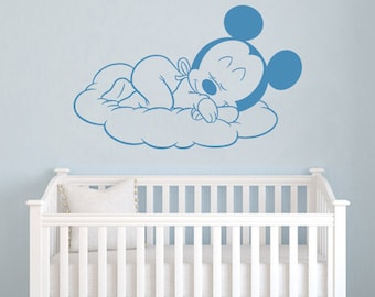 Kinderzimmer junge baby disney  Mickey-Mouse Wand Aufkleber Walt Disney zitieren Cartoon Vinyl