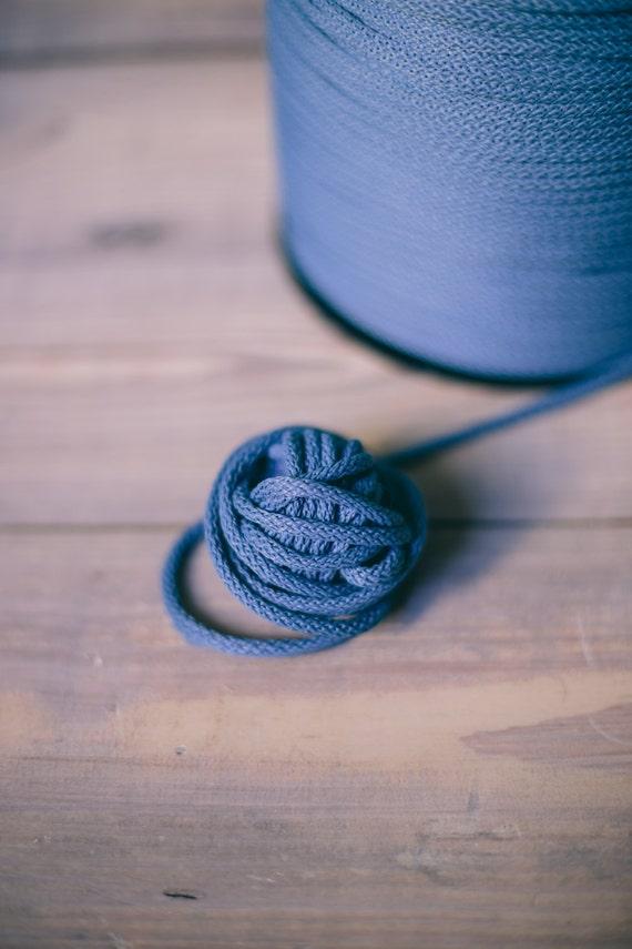 Blue yarn - macrame cord- crochet cord - polyester rope - macrame rope- crochet yarn- chunky yard- chunky cord- yarn- cord, 218 yards #206