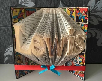 Single Name - Folded Book Art