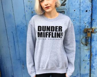 Dunder Mifflin, The US Office | Grey Sweatshirt Jumper