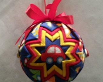 Quilted ornament-cars for children