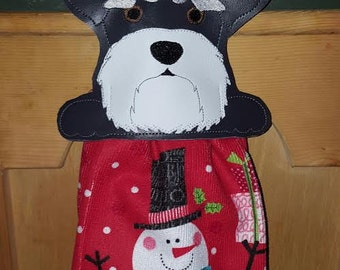 Schnauzer Towel Holder