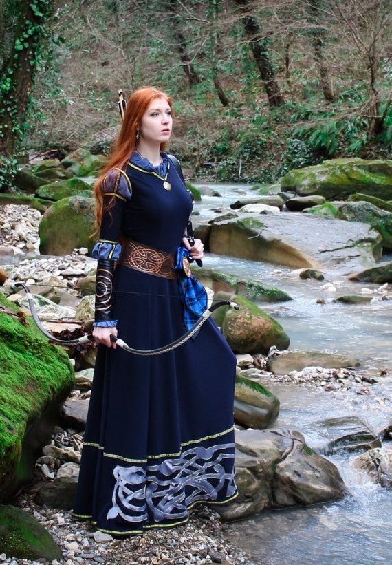 Merida cosplay dress; Scottish Princess Costume