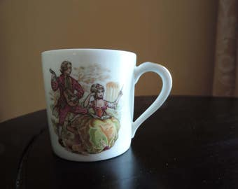 MUG - porcelain from Limoges - Giraud - Victorian -.