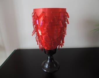 Vase glass - chandelier - Shabby chic-