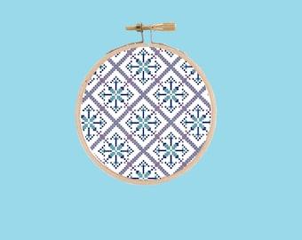 Geometric Cross Stitch Pattern - PDF Digital Download
