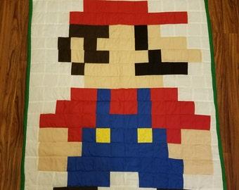 8-Bit Mario Quilt