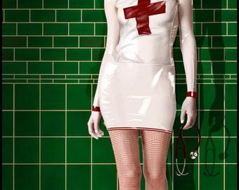 Fine Art Giclee print,canvas print,gothic,dark art,goth,vampier,occult,fantasy,zombie,nurse, latex3