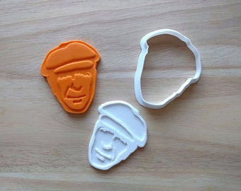 Leonard Cohen Cookie Cutter and Stamp Set, Fondant Cutter