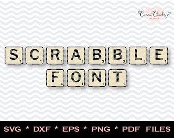 Scrabble Font svg / Scrabble font for Cricut / SVG Alphabet /  SVG Letters / Font for Silhouette Cameo / Scrabble SVG