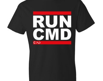 RUN CMD - Unisex T-Shirt - Geeky, Nerdy, PCMR