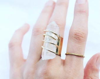 BIG CLEAR QUARTZ Ring