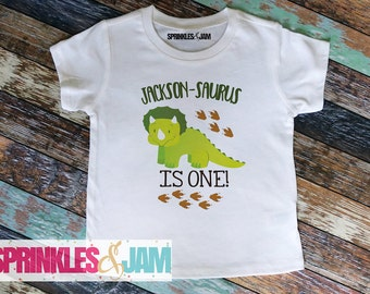 Dinosaur  Birthday Shirt, Triceratops First Birthday, Dinosaur 1st Birthday, Triceratops Birthday tshirt