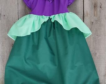 Ariel Dress/Princess Dress/Ariel Costume/Princess Costume/Princess Ariel/Girls Dress/Girls Gift/Girls Halloween/Girls Costume/Ariel /Mermaid