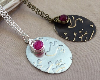 Cherry Blossom Necklace - Japanese Cherry Blossom Necklace - Flower Necklace - Bird Necklace - Floral Necklace - Blossom Necklace