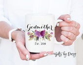 godmother gift, godparent gift, godparent mug godmother mug, godparent request coffee mug  baby announcement godparents gift mom gift m-368