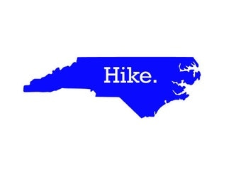Hike. ANY STATE AVAILABLE- Quality Vinyl Decal; Get outside! hiking decal, Yeti decal, car decal, window decal