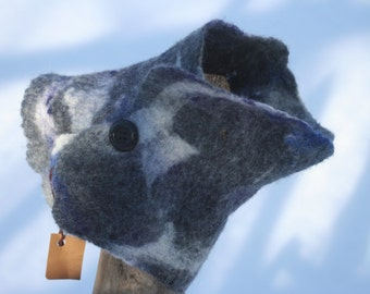 Col en feutre neutre/ felt scarf grey tones