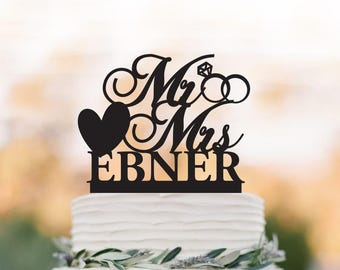 personalized Wedding Cake topper mr and mrs,  wedding cake decoration, funny wedding cake toppers