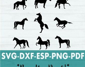 Horse svg - Horse Svg Bundle - Horse Vector - Horse Clip Art - Horse PDF - Horse Silhouette - Horse Silhouette Svg - Equestrian Svg