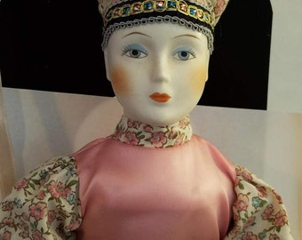 Mardi Gras Doll - Hand Crafted Porcelain