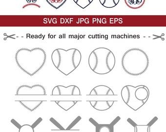 Baseball SVG, Baseball Monogram frames, Svg Baseball Cut Files , Vector baseball frame clipart Cricut download svg jpg png dxf Silhouette