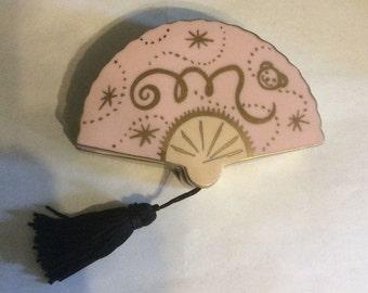 Exclusive Muffy VanderBear Club Fan Shaped Ceramic Jewelry Box