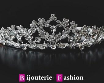Delight,Tiara, Crystal Crown,Bridal Tiara,Swarovski Crystal,Wedding tiara,Crown,Czech stones,accessory,royal diadem
