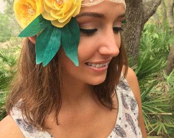 Summer Music Festival Headband, Lace headband, festival hair decoration, Boho hair bands