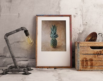 Printable Kitchen Art, Pineapple Art Print, Culinary Gift, Printable Artwork, Unique Wall Art, Printable Artwork For Kitchen