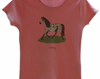 Horse t-shirt 'Dotty'