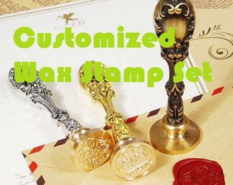 Customized Wax Seal Stamp Head / Handle Vintage Copper Head Personalized Gift DIY Sealing Stamp For Wedding Invitation