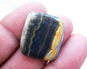 Fancy Bumble Bee Yellow Jasper Pendant Cabochon,  Smooth Jasper Gemstone For Jewelry Making  29.6 Cts. (25x23x5)mm (F-28)