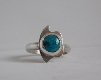 Silver Ring 950 and turquoise, silver ring, turquoise ring, silver, sterling silver plated aryesanal, turquoise rings, special