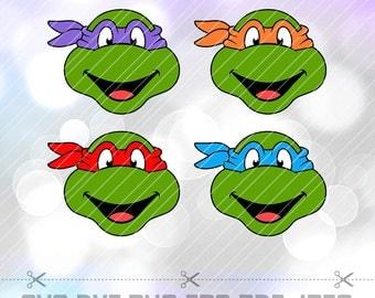 Teenage Mutant Ninja Turtles SVG DXF Png Eps Vector Cut Files Cricut Designs Silhouette Cameo Birthday Party Decorations Vinyl Tshirt Decal