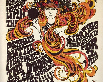 The Doors – Jim Morrison - The Doors Concert Poster - The Doors Art – The Doors Poster – The Doors Print – Rock and Roll - 11x17 (JS00788)