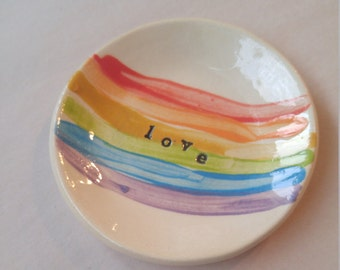 Rainbow Love Treasure Bowl - 3.5""