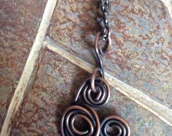 Wire coiled copper Mickey Mouse Antiqued Disney Necklace