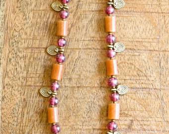 Colourful Indian Brass Necklace