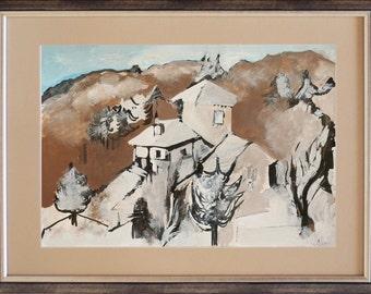 Winter landscape 2, framed painting