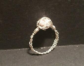 Braided crystal rings