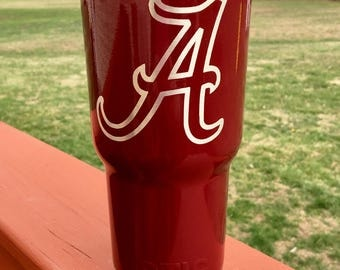 Embedded Alabama Crimson Tide RTIC 30oz Powder Coated Tumbler with Lid-Crimson or White