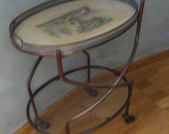 waitress cart,trolley,bronze. Vintage