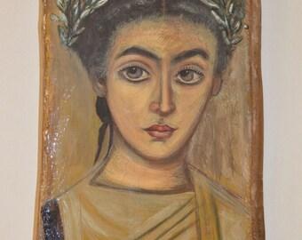Fayum mummy portraits - Little Girl Painting